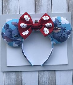 Lilo and Stitch Ears. Disney Minnie Mouse Ears, Diy Disney Ears, Disney Diy, Disney Ears Headband, Ear Headbands, Stitch Ears, Lilo E Stitch, Disney Printables, Disney Clothes