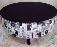 """Pufs feitos a partir da reciclagem de pneus. A artesã responsável é a Silvana Silva da Art""""s Puffs. Quem não quer um? Lindos né! ..."""