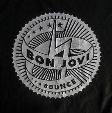 Bon Jovi T-Shirt Adult XL Bounce Concert Tour 2003 Rock Music Jon Bon Jovi Black