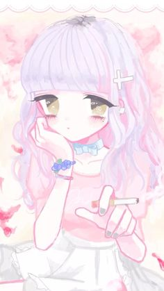 Wallpaper Manga Art, Anime Art, Pastel, Kawaii Wallpaper, Kawaii Girl, Cute Cartoon, Anime Characters, Drawings, Instagram