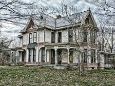 "Abandoned House in Ohio. ""This must have been a beautiful home in its time."""