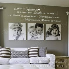 image 0 Family Wall Decor, Living Room Decor, Family Wall Quotes, Living Area, Dining Room, Memory Wand, House Blessing, Home Quotes And Sayings, Wall Sayings