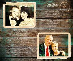 50th Anniversary Gift REAL WOOD print Custom by Studiojones1