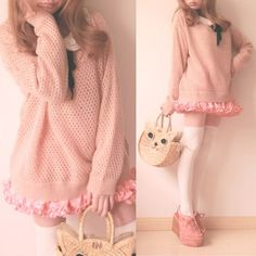 Soooo adorable .. It's great to be girly girl who adores pink and Lolita sweet style :)