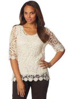 Crochet Lace Shirt product photo Main View P275W