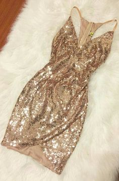 Gold sequin dress More