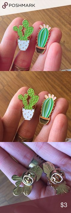 Cacti enamel pin bundle free with a bundle purchase only of 11$ or more. This item cannot be purchased by itself‼️#cactus #boho #hippie Urban Outfitters Jewelry Brooches