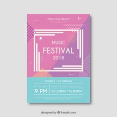 More than a million free vectors, PSD, photos and free icons. Exclusive freebies and all graphic resources that you need for your projects - Festival Flyer, Festival Posters, Free Poster, Prospectus, Summer Music Festivals, Music Artwork, Music Icon, Music Music, Album Design