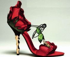 Red Rose High Heels