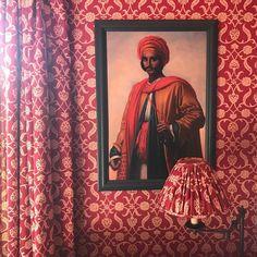 Soane Britain's Lotus Palmette wallpaper and fabric. Fabric Wallpaper, Of Wallpaper, Repeating Patterns, Stripes Design, Botanical Prints, Rattan, Britain, Upholstery, Lotus