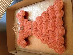 Princess dress cupcakes - pull apart cake