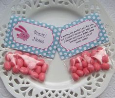 Printable Easter Bunny Noses Mini Bag Toppers by PinkPosyPaperie, $3.00