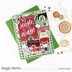 Spreadin' Good Cheer! by Jeanne Jachna – Simple Stories Christmas Greeting Cards Making, Homemade Christmas Cards, Christmas Greetings, Good Cheer, Jingle All The Way, Simple Stories, Very Merry Christmas, Cards For Friends, Favorite Holiday