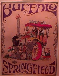 Buffalo Springfiled on TV, 1967 - Classic rock music concert psychedelic poster ~ ☮~ღ~*~*✿⊱  レ o √ 乇 !! ~