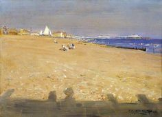 Hove Beach, East Sussex by George Percy Jacomb-Hood, 1920