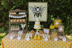 Bee themed 1st birthday party. #birthday #party