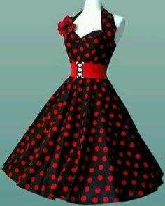 Vestidos pin-up: fotos modelos Pin Up Outfits, Pin Up Dresses, 50s Dresses, Pretty Dresses, Beautiful Dresses, Cute Outfits, Fashion Outfits, 1950s Fashion Dresses, Dress Fashion