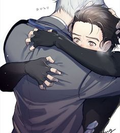 Este tipo de abrazos son lo más  | Yuri on Ice | Viktor Nikiforov&Yuri Katsuki