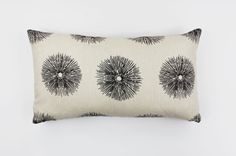 Kelly Wearstler Sea Urchin Ivory/Ebony Lumbar Pillows (Both Sides) by Lynn Chalk, $75.00 (only 2 available at sale price)
