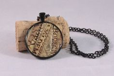 Recycled wine cork mosaic necklace by ZonaShermanDesigns on Etsy, $24.00