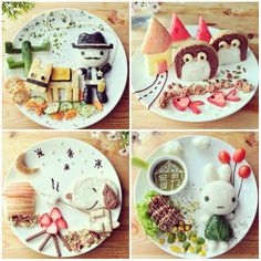 Culinary art, beautiful pictures of food Snoopy, Lady Gaga, Batman