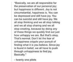 Tyler and Josh talking about the preservation of joy versus happiness