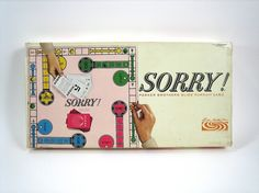 "1964 Sorry Board Game... My Family Played SORRY all the time!!! #MemoriesOfTimeGoneBy :"") ~XOX"