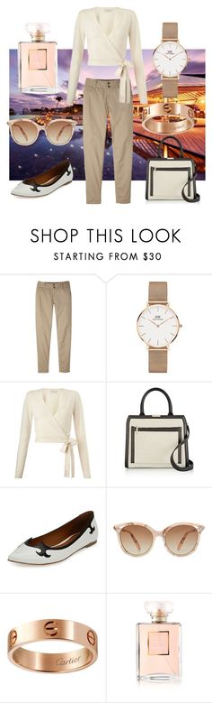"""""""Classic Inverted Triangle"""" by stylefeather ❤ liked on Polyvore featuring Mountain Khakis, Daniel Wellington, Miss Selfridge, Victoria Beckham, Tomas Maier, Cartier and Chanel"""