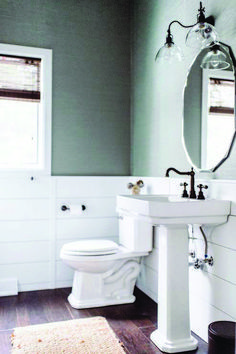 Lovely shiplap bathroom wall only in home design site