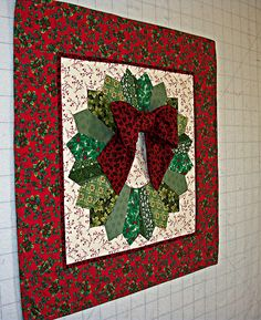 Quilted Holiday Dresden Wreath side | Vicki Dobbins | Flickr