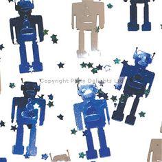3D Robot Party Robot Table/Invite Confetti