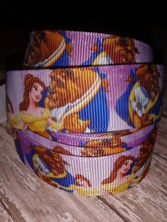Beauty and the Beast Grosgrain Ribbon by RibbonstoBowsandMore on Etsy