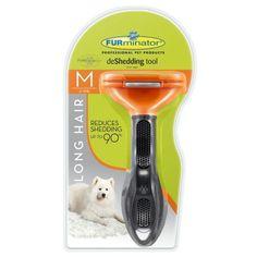 Escova Furminator Pelo Longo - Média. #furminator #escovafurminator #cachorro #petshop #petmeupet #filhode4patas #maedepet #paidepet