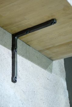 Option for shelf bracketst----Set of 12 metal iron hand forged shelf brackets by BlacksmithArts