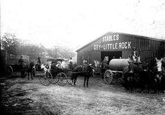The City of Little Rock Stables, East 18th Street, Circa 1915