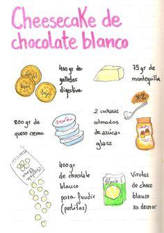 """Gastro Andalusi ♥ Recetas paso a paso: Cheesecake 100% de chocolate blanco con superficie crujiente para el concurso """"Tu mejor tarta"""""""