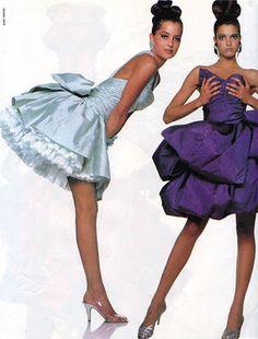 Best Fashion Look : Christian Lacroix dresses Christian Lacroix, 80s And 90s Fashion, High Fashion, Fasion, Fashion Outfits, Fashion Trends, Stylish Outfits, 1980s Prom, Vogue
