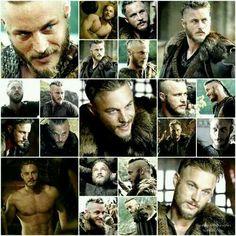 "Travis Fimmel as Ragnar on ""Vikings""."