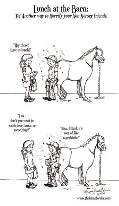 This is dedicated to all my 'normal' friends and The Husband who remain - Horses Funny - Funny Horse Meme - - This is dedicated to all my 'normal' friends and The Husband who remain totally grossed out by my tendency to devour a sandwich while my hand Funny Horse Memes, Funny Horses, Funny Animal Memes, Funny Animals, Horse Humor, Equestrian Memes, Equestrian Problems, Horse Riding Quotes, Horse Quotes