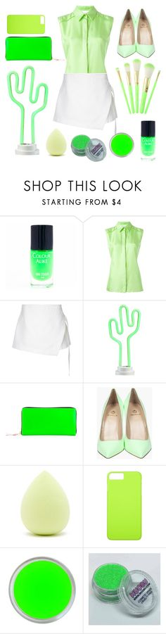 """Cactus"" by my-style-xo ❤ liked on Polyvore featuring Maison Margiela, Dion Lee, Celebrate Shop, Comme des Garçons, Forever 21, neon, GREEN, Cactus and neongreen"