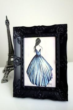 FREE SHIPPING: Prom Dress Fashion Illustration  by CandeeMade