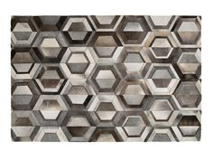 Rectangular cowhide rug with geometric shapes GREYSTONE by LIMITED EDITION