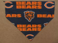 Chicago Bears Bandana by SCCDogApparel on Etsy, $8.00