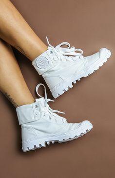 Palladium Baggy Boot - White/White from peppermayo.com