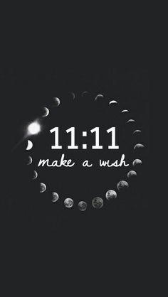 Imagen de 11:11, wish, and moon
