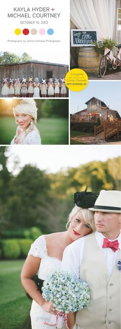 Whimsical shabby chic wedding at Castleton Farms, photographed by Jennie Andrews | The Pink Bride www.thepinkbride.com