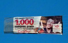 Pancarta de publicidad aérea para campaña de CAJA SUR