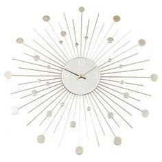 Galaxy Clock in Silver