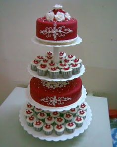 red cupcakes for a wedding | Wedding Cupcakes & Cakes