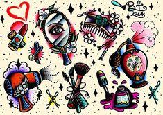 girly makeup tattoos tumblr - Google Search